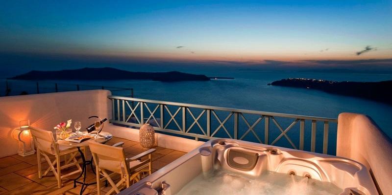 Hotel para casais em lua de mel em Santorini