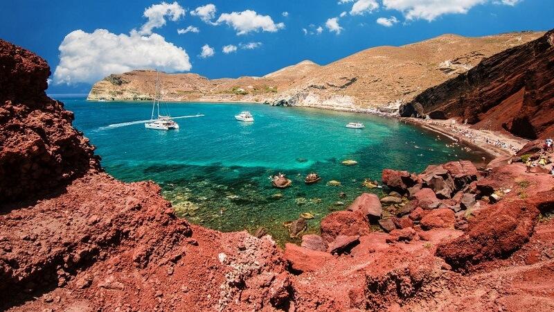 Praia Vermelha em Santorini