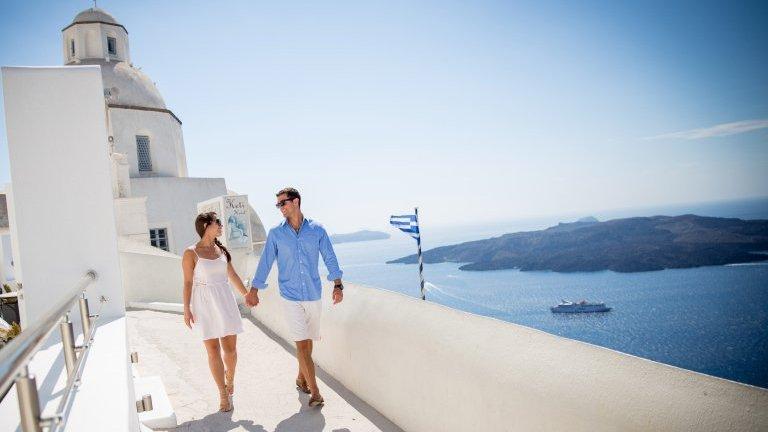 Passeios românticos em Santorini